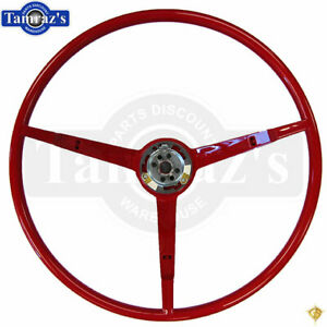 1965 Ford Mustang 3 Spoke Steering Wheel Red Golden Star