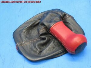 Porsche 944 924s 968 Manual Shift Shifter Knob With Boot Black Red