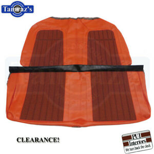 1969 Camaro Rear Seat Upholstery Covers Houndstooth Orange Convertible Clearance