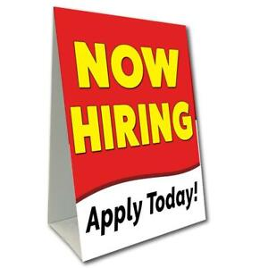 Now Hiring Economy A frame Sign