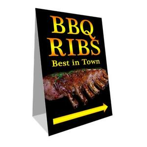 Bbq Ribs Economy A frame Sign