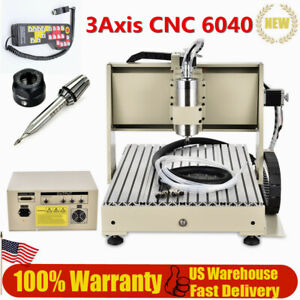 3axis Cnc 6040 Engraver Router Drilling Engraving Machine Ac110 5a 1 5kw Rc Us