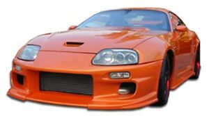For 1993 1998 Toyota Supra Duraflex Demon Front Bumper Cover 1 Piece