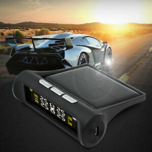 Wireless Lcd Display Solar Tyre Pressure Monitoring Systems 4 External Sensors