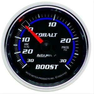 Autometer Cobalt Mechanical Boost Vacuum Gauge 2 1 16 Dia Black Face 6103