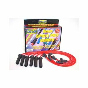 Taylor Cable Spark Plug Wires Spiro Pro 8mm Red Straight Boots Universal L8 V8