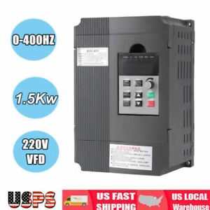 220v Single Phase To 3 three Phase Output Frequency Converter Vfd 1 5kw Ac Motor