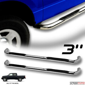 For 01 04 Tacoma Double crew Cab 3 Chrome Side Step Nerf Bars Running Boards Hd
