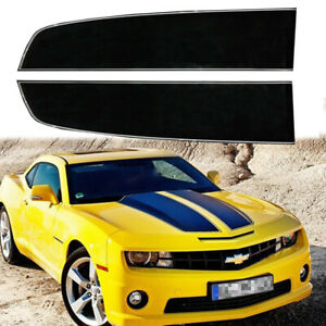 For Chevy Camaro 2010 19 Gloss Black Front Hood Rally Stripes Decal Racing Trim