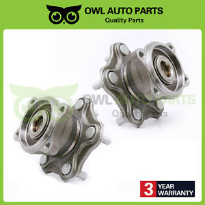 Rear Wheel Hub Bearing Set Pair For 2002 2006 Nissan Altima Quest W Abs 512201