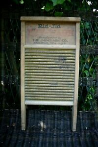Vintage Washboard Advertising Rid Jid J R Clark Co Mn Mn 23 H X 11 5 W Smooth