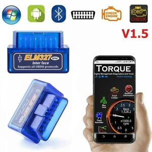 Elm327 V1 5 Bluetooth Android Obd2 Scanner Adapter Obdii Diagnostic Tool Torque
