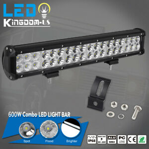 18inch 600w Led Light Bar Flood Spot Offroad Work Lights 4wd Truck Atv Ute 17