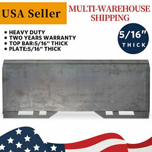 5 16 Mount Plate Loader Skid Steer Quick Tach Attachment Steel Hd For Kubota