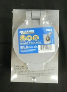 Reliance Controls Power Inlet Box For Generator Cord Connection Pb30 30 Amp