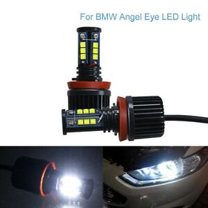 120w H8 Led Angel Eyes Halo Ring Light Bulbs Hid Xenon White For Bmw Error Free