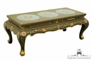 High End Asian Chinosierie Cloisonne Black 49 Accent Coffee Table