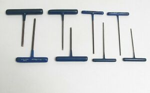Blue Point Awcg 8pc T Handle Allen Wrench Hex Set 3 32 To 1 4 Sae