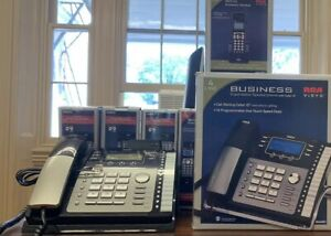 Rca Visys Business Phone Set 5 Dect 6 0 Accessory Handsets And 2 4 Line Phone