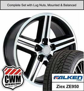 16 Wheels And Tires For Chevy El Camino Black Machined Iroc Rims Fit 1982 1987