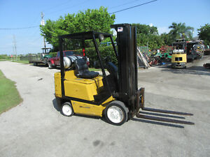 Yale Glc050 5000 Lb Forklift Propane Side Shift Lift 188 3 Stage