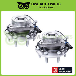 Pair Front Wheel Bearing Hub 8 Lug 4x4 Chevy Silverado 2500 Hd Gmc Sierra 515058