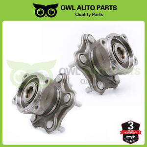 2 Rear Wheel Hub Bearing For Nissan Altima Maxima Quest 5lug W abs Brakes 512201