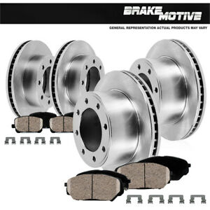 Front Rear Rotors Ceramic Pads For 2000 2001 2002 Dodge Ram 2500 3500