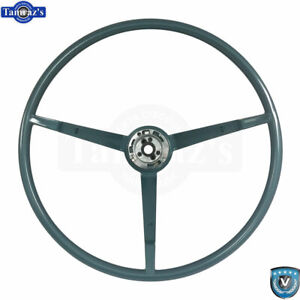 65 66 Ford Mustang Correct 15 Reproduction O E Style Steering Wheel Aqua