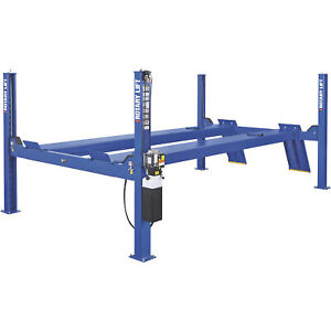 Rotary Lift 4 Post Closed Front Truck Car Lift 14k Lb Cap 215in Wheelbase Blue