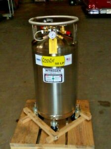 New Chart Cryo cyl 50 Lp Cylinder Nitrogen Refrigerated Tank Stainless 10980663