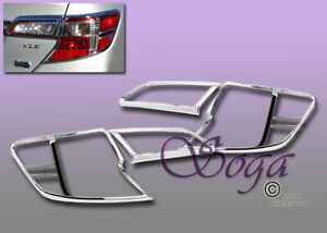 For 2012 2013 2014 Toyota Camry 4dr Trim Bezel Tail Lights Cover Covers Fast New