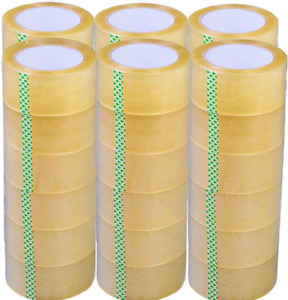 36 Rolls Clear Packing Packaging Carton Sealing Tape 2 0 Mil Thick 2 X110 Yards