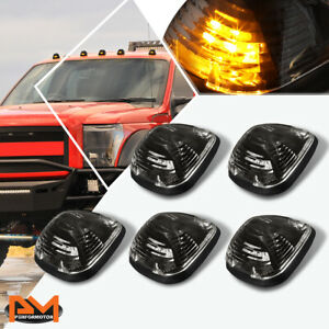 5pcs Cab Roof Running Light W harness Smoked Yellow Led For 99 16 Ford Superduty