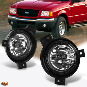 For 01 03 Ford Ranger Pickup Oe Style Clear Front Bumper Driving Fog Light Lamp