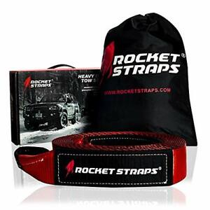 Rocket Straps3 X 30 Heavy Duty Tow Strap 30000 Lbs Rated Capacity Recovery