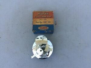 1957 1958 Plymouth Dodge Locking Gas Cap Mopar Nos Crome With Key