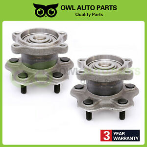 Rear Wheel Hubs Bearings Left Right Pair Set For Maxima Nissan Altima 512202