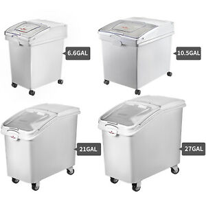 Ingredient Storage Bin 21 27 Gallon Mobile Container W scoop Commercial Kitchen