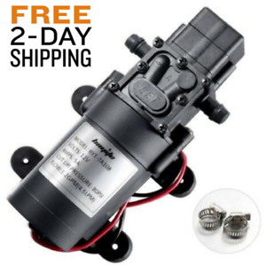 12 Volt Dc Water Pump Diaphragm Self Priming Sprayer Rv Camper Lawn Boat Shower