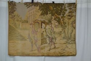 Tapestry Wall Hanging Cotton Woven Victorian 30x51 Renaissance 1800