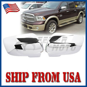 Us Chrome Side Mirror Cover W Turn Signal For Dodge Ram 1500 2500 3500 09 12 Fm