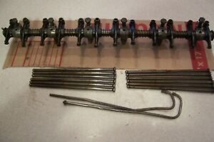 Original Ford Factory 215 223 Rocker Arm Assembly Bolts Push Rods Oiler Tubes