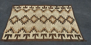 4x6ft Antique Navajo Rug Blanket Native American Textile Cir 1920