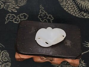 A Lovely Chinese Carved White Jade Pendant