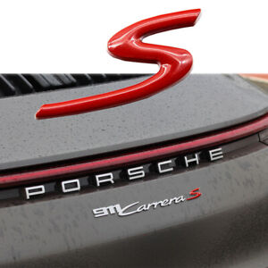 Glossy Red Oem Rear Trunk Badge Emblem For Porsche 911 Cayenne Panamera Boxster