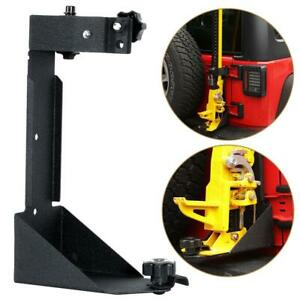 Hi Lift Jack Stand Carrier Mount Side Hood Bracket For Jeep Wrangler Jk Off Road