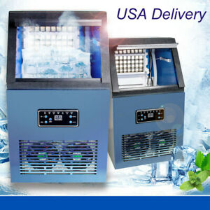 Stainless Steel Commercial Ice Maker under Counter freestanding Auto Ice Machine