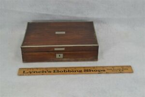 Sewing Box Antique Victorian Small 8 X 5 5 X 2 In Deep Wood Original Antique