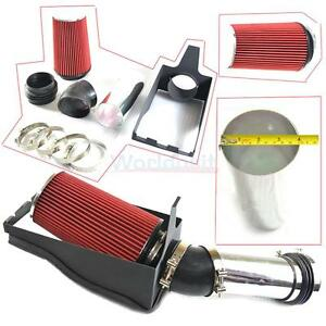4 inch Heat Shield Cold Air Intake filter For 99 03 F250 f350 Super Duty Red